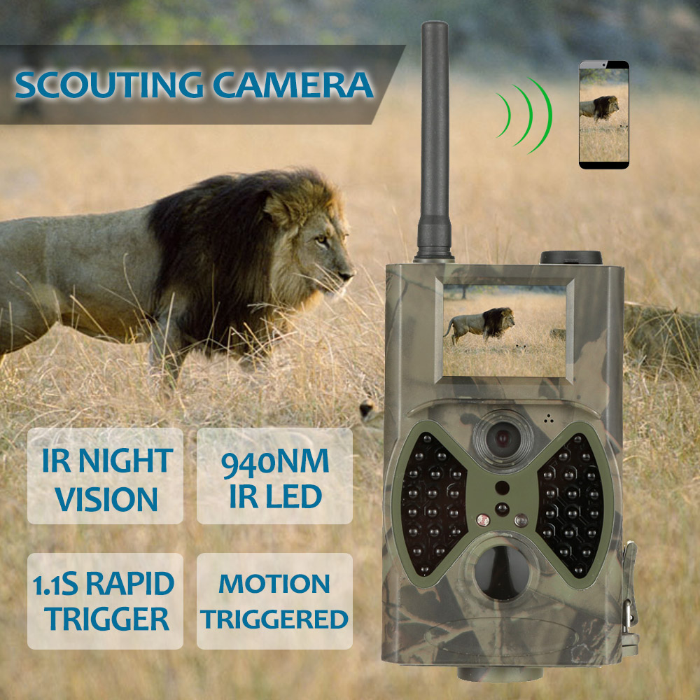 12mp Scouting Hunting Camera Night Vision 940nm Black IR Infrared Trail Cameras 2.0' LCD IR Game Hunter Cam 12mp hd 1080p black ir game hunting scouting camera ip66 super long detection range up to 75ft 2 0 lcd ir game hunter cam