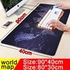 900 400mm Large Size World Map Mouse Pad Speed Keyboard Mat Gaming Mousepad Locking Edge Non