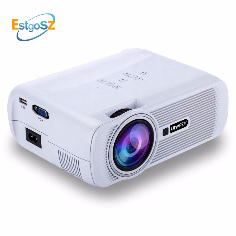 EstgoSZ CTL80 X7 1800Lu Android 6.0 Portable Uhappy Smart Projector Full HD 1080P Mini LED Proyector WIFI Amlogic S805 Quad-Core estgosz 2300 lumen 2018 u45 led projector uhappy best portable hd usb hdmi tv projector lcd mini proyector 3d home theaterbeamer