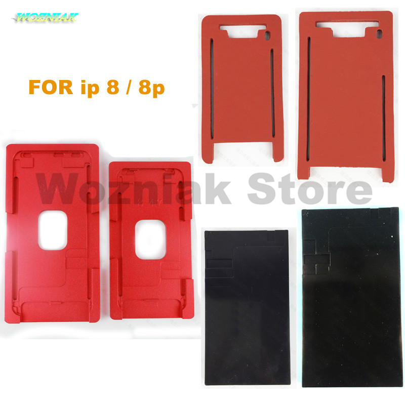 for iphone 8 plus 8p Cover plate Bracket mould Positioning screen Fit Black rubber pad OCA Cold Press Silica Gel Pad Mold Foam