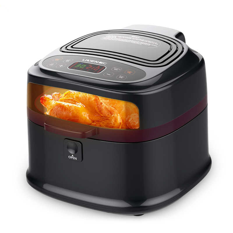 220V 8L Non-stick Electric Fryer Smokeless Household And Commercial Using French Fries Maker Fryer Machine With Visual Wndow french polishing finishing and restoring using traditional techniques