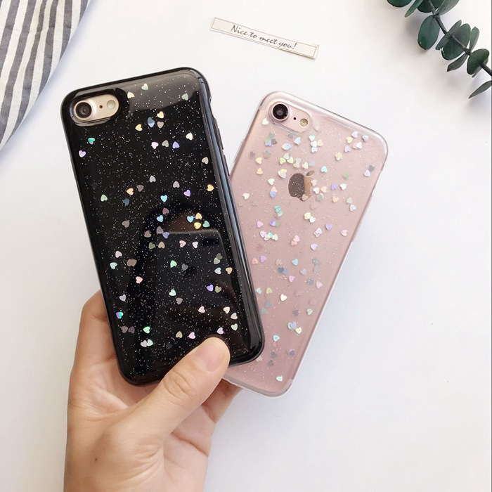 Love flash powder New Mobile Phone Shell Slim Shell Protection Case for iPhone 6 6s 7 Plus