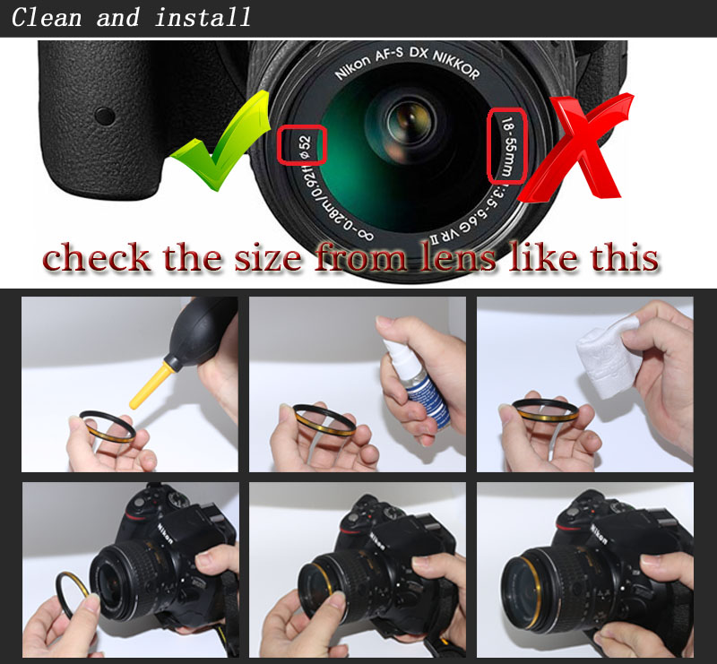 KnightX 49mm 52mm 55mm 58mm 67mm 77mm cpl Filter for Canon Nikon D5300 D5500 DSLR camera Lenses lens accessories d5100 d3300 CPL 4