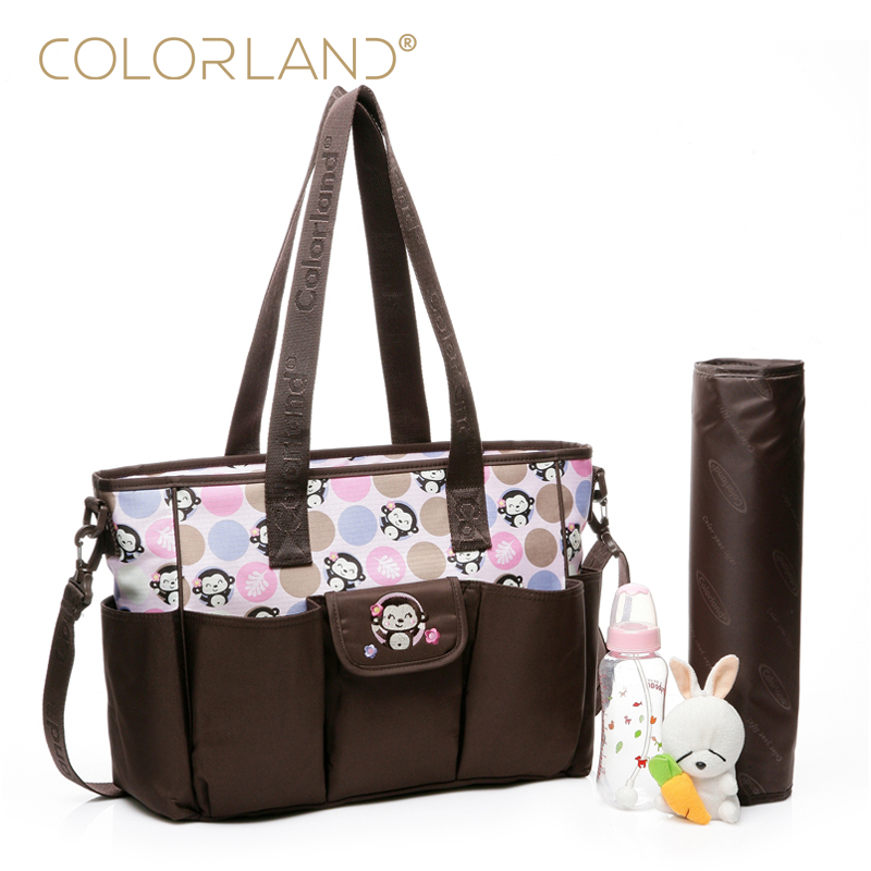 COLORLAND Designer Baby Diaper Bags for Mom Brand Nappy Maternity Bag for Stroller Baby Care Bag Handbags for Moms TT185