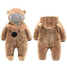 Ropa para bebé recién nacido de 0 a 3 meses, Foots gruesos y cálidos de algodón para bebé, monos para chico infantil de oso de dibujos animados, ropa para bebé