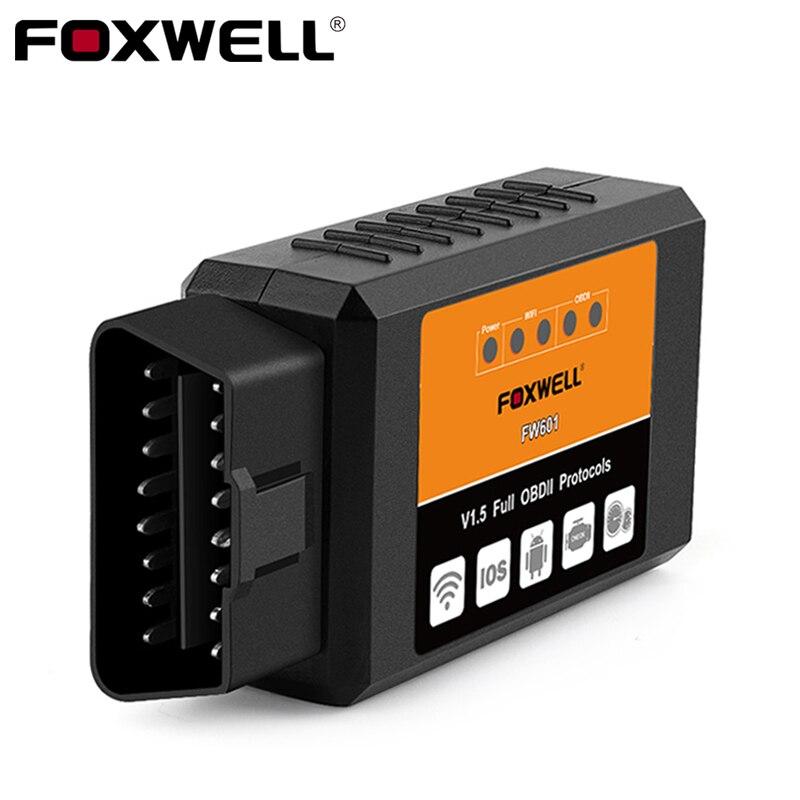 FOXWELL FW601 Universal OBD2 WIFI ELM327 V 1.5 Scanner for iPhone IOS Auto OBDII Scan Tool OBD 2 ODB II ELM 327 V1.5 WI-FI ODB2