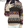 New Cool Geometric Printed Hoodie Women Autumn Winter Ladies Long Sleeve Cotton Sweatshirts Casual Ethnic Style Pullover Oct6