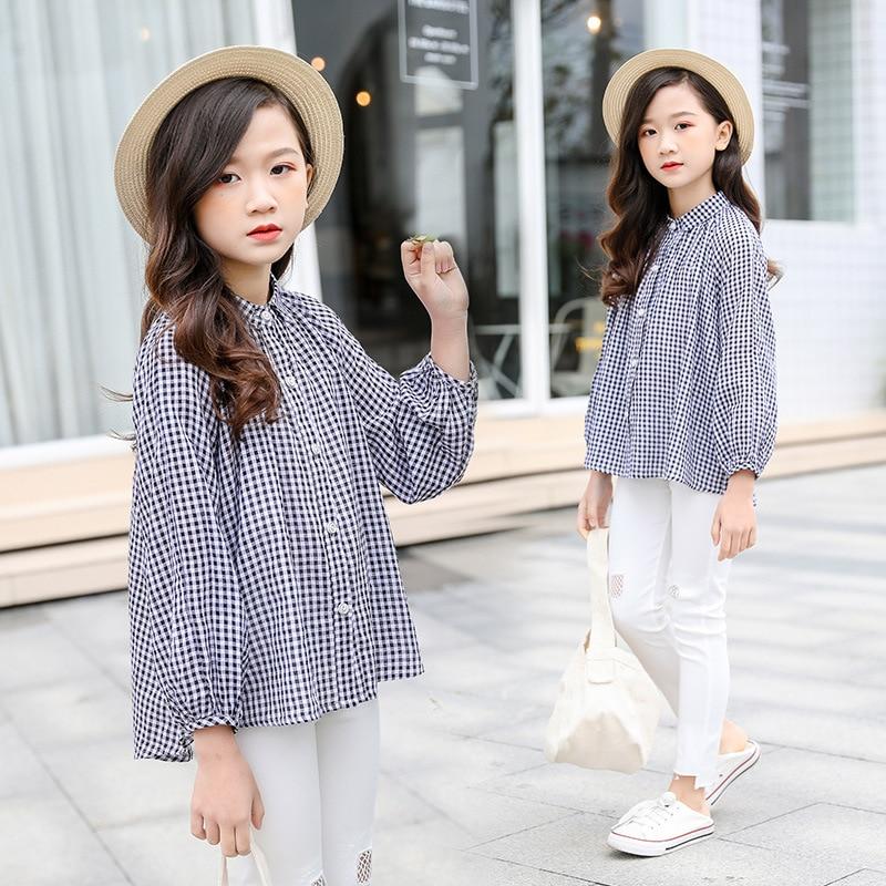 Kids Girls Blouses and Shirts 2019 Spring Fall Little Big Girls Plaid  Shirts Cotton Blouse Top School Girl Long Sleeve Blouse|Blouses & Shirts| -  AliExpress