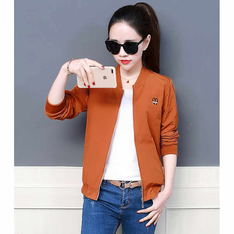 Women Clothes 2019 Riverdale Women Jackets Spring Autumn Harajuku Streetwear Thin Tooling Jacket embroidery Casual Coat