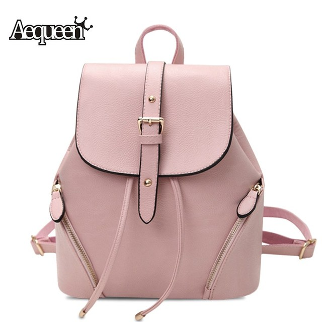 AEQUEEN Fashion Women Leather Backpacks Waterproof Ladies Cute Shoulder  Backpack School Bag For Teenagers Girls Bookbag dbc3ef5f6