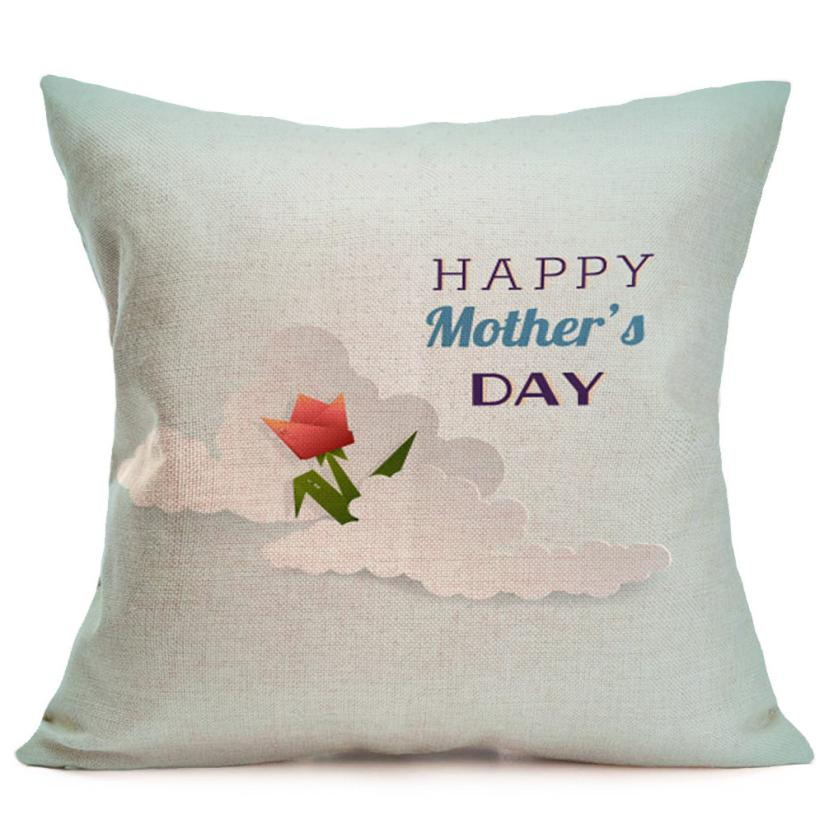 Pillowcases decorative pillows Happy Mother's Day Sofa Bed