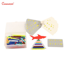 Colorful Beads Set Montessori Educational Toys Maths Number Count Practice Kids Home Games Plastic Stainless Materials MA200-JZ3