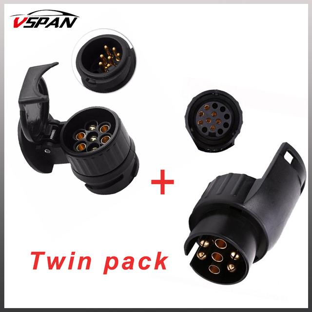 13 to 7 pin & 7 to 13 pin trailer electric converter tow bar plug adaptor  socket trailer caravan wiring electrical converter-in rv parts &  accessories from