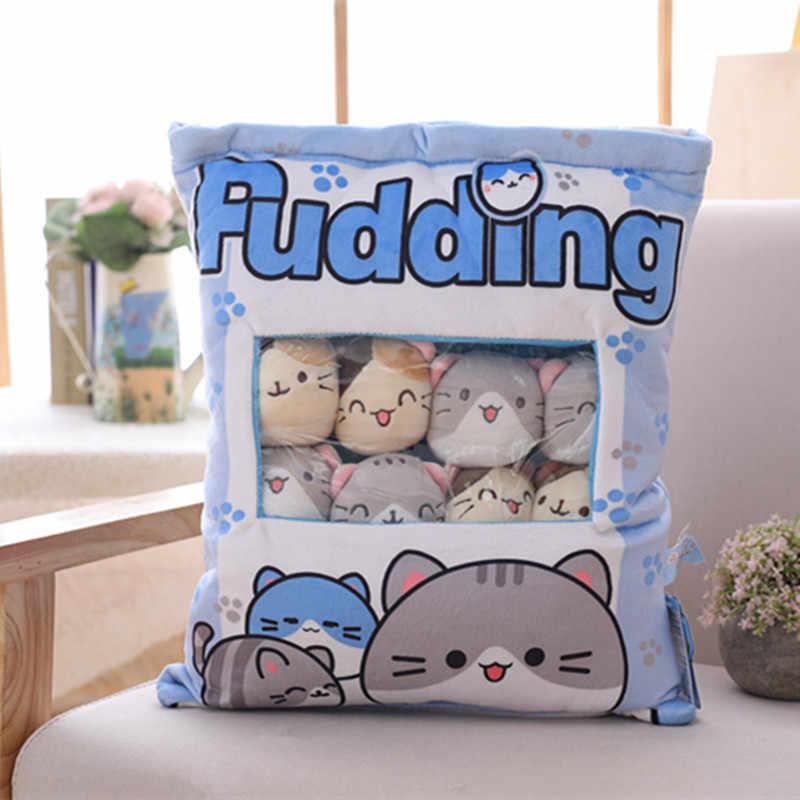 新ビッグバッグかわいい猫ぬいぐるみボールバッグスナックおもちゃソフト漫画の動物のぬいぐるみ人形ソファ枕ガールフレンドの子供ギフト