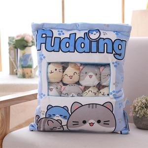 Image 2 - New Big bag Kawaii Cat Plush Balls Bag Snack Toy Soft Cartoon Animal Stuffed Doll Sofa Pillow Girlfriend Kids Gifts