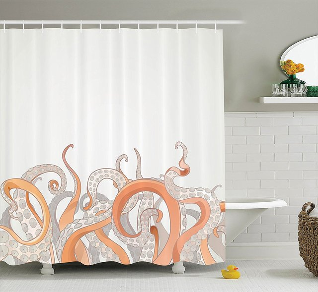 WARM TOUR Octopus Tentacles Shower Curtain Shower Curtain Bathroom
