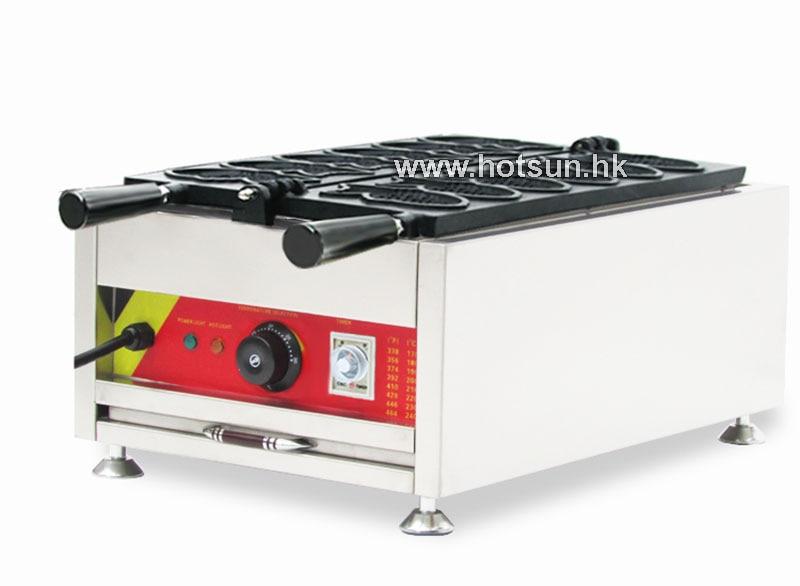 Commercial Non-stick 110v 220v Electric 6pcs Taiyaki Fish Waffle Maker Iron Machine commercial non stick 110v 220v electric 12pcs taiyaki fish waffle maker iron machine