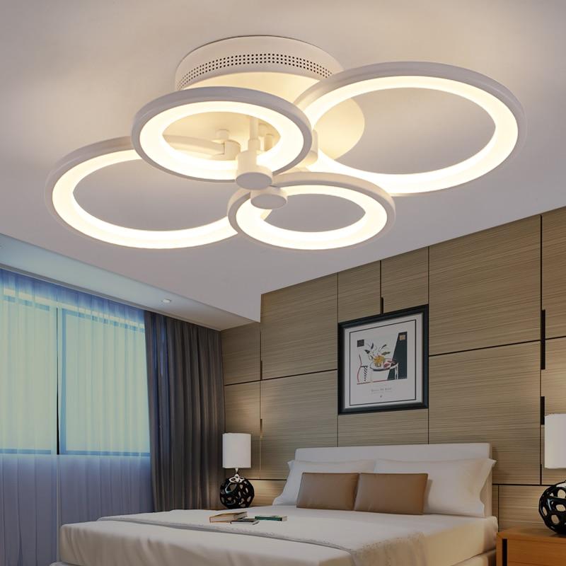 Blanco y negro moderno LED araña para sala de estar dormitorio - Iluminación interior - foto 4