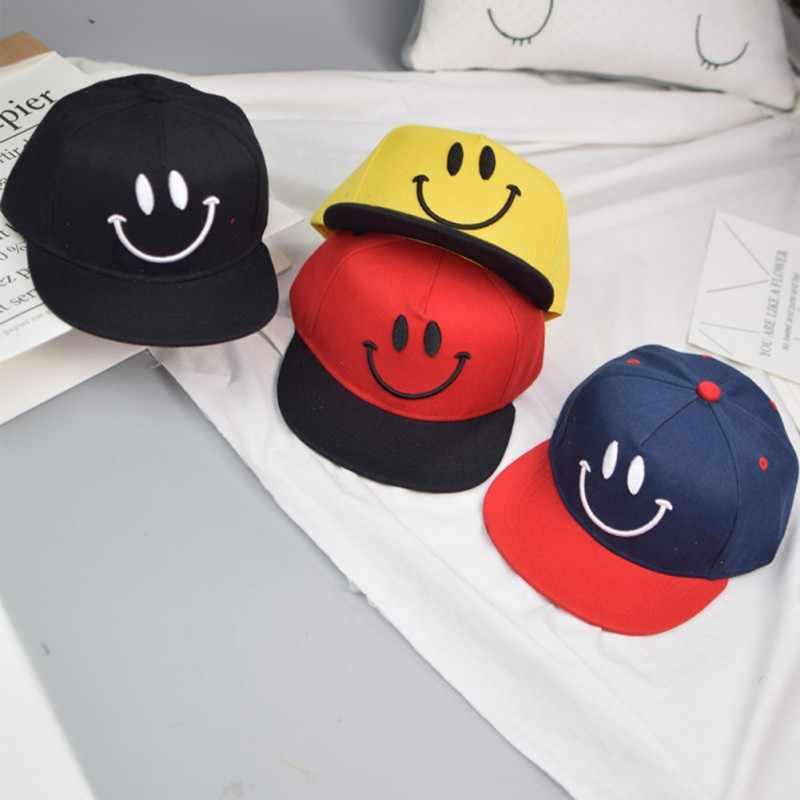 0b7759bdb Baby Hat Smile Design Kids Hat Baseball Cap Cute Cotton Baby Boys Girls  Summer Sun Hat Children Visors Hip Hop Child Caps