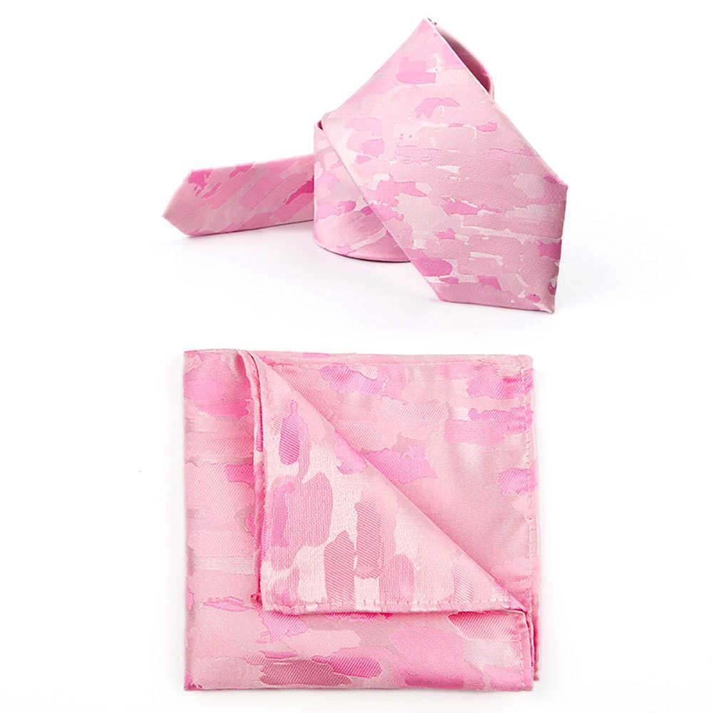Traje de esmoquin para hombres de negocios de fiesta de boda de novio de seda coreana con bolsillo de camuflaje rosa