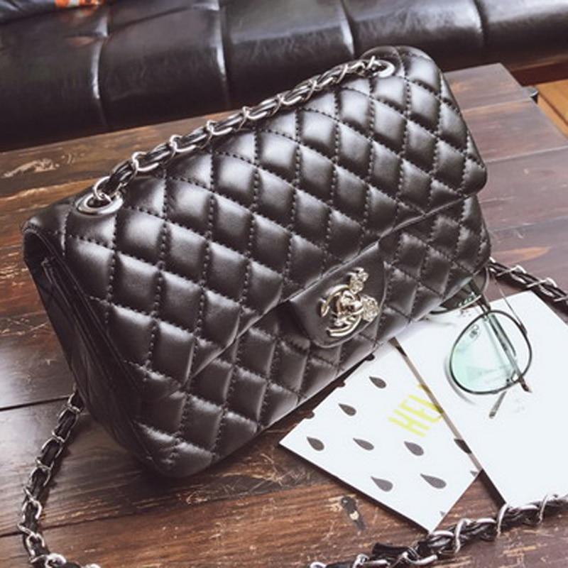 Channels Luxury Designer Chain Messenger Bag Woman Bag Leather Handbag Female Small Flap Crossbody Shoulder Bag Sac A Main Purse