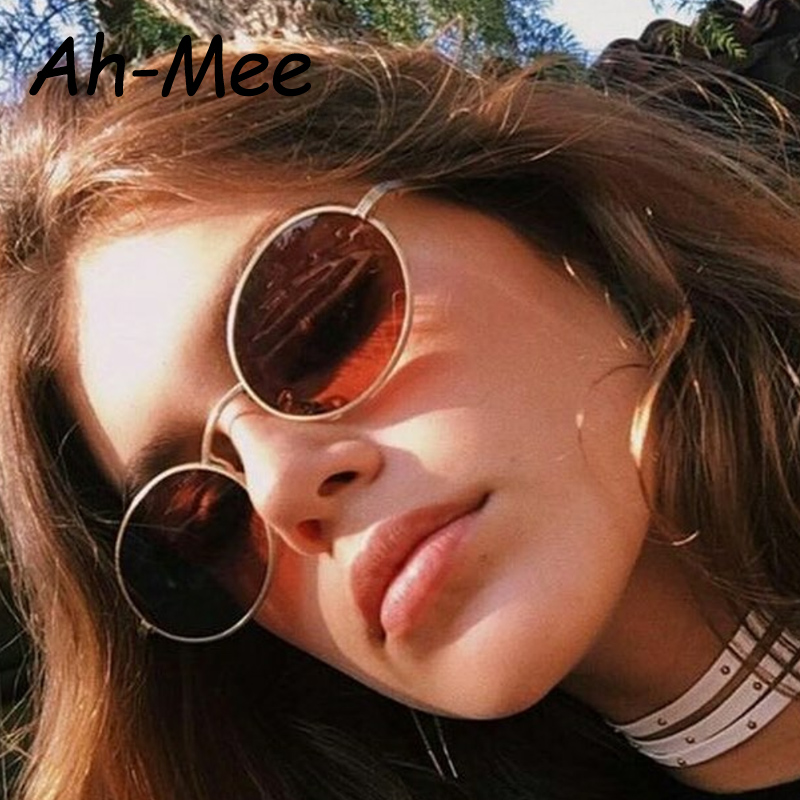 Small Oval Sunglasses Women Vintage Brand Designer Black Red Cheap Sun Glasses Round Metal Frame Men UV gafas de sol