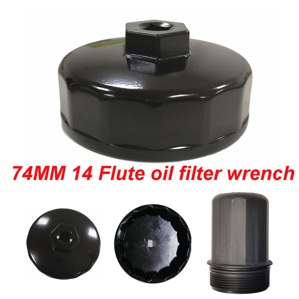 New Aluminum Black 74mm 14 Flute Oil Filter Wrench Cap Tool Socket Removal For Mercedes Benz C32/C36/C43/C55 AMG CL55 AMG CL500New Aluminum Black 74mm 14 Flute Oil Filter Wrench Cap Tool Socket Removal For Mercedes Benz C32/C36/C43/C55 AMG CL55 AMG CL500