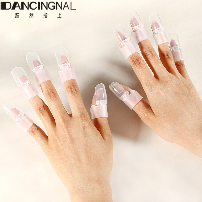 New 10pcs Set Clear Finger Nails Polish Protector Cover Clip Nail Art Design Tips Shield Tools Diy Manicure Beauty Tool 2018 In Equipment From
