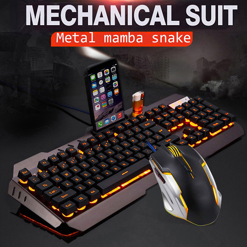 USB Wired Gaming Rainbow LED Backlit Gaming Mechanical Light For Computer Desktop Laptop