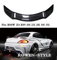 JINGHANG ROWEN Style Carbon Fiber Car Rear Wing Trunk Lip Spoilers For BMW Z4 E89 20i 23i 28i 30i 35i 2009 2014
