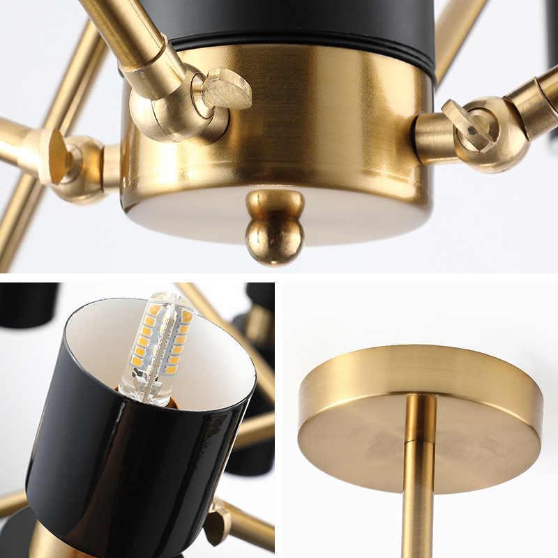 Modern Hitam Lampu Gantung LED Nordic Aluminium Lampu Belajar Makan Ruang Tamu Lampu Gantung Kamar Tidur Perlengkapan Rumah