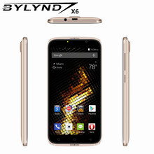 Original Smartphones BYLYND X6 cheap celular MTK6580 Quad Core games 5.0 inch Android 6.0 mobile phones 3G WCDMA GPS 1G RAM 5MP(China)