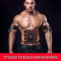 Smart EMS Stimulator Training Fitness Gear Muscle Abdominal Exerciser Toning Belt Battery Abs Fit Muscles Intensive Training