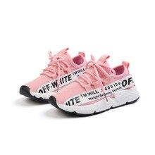 85c5f9c12 Nuevo zapatos de los niños zapatos deportivo blanco alumnos zapatos de  malla transpirable zapatos de deslizamiento zapatos niñas.