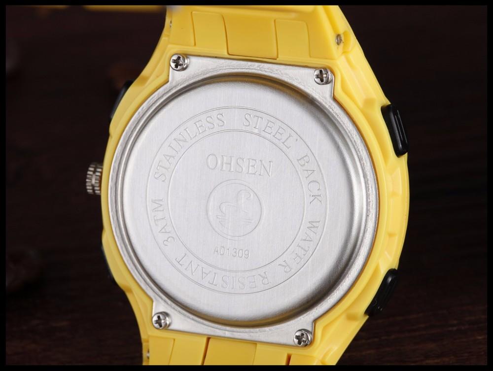 Original Ohsen Brand Fashion Sports Men's Watches 30M Waterproof Rubber Black Rubber Band Digital Sport Wristwatch for Men Gift (31)