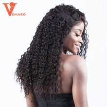 13X6 Deep Part Lace Front Human Hair Wigs Pre Plucked 130% Density Brazilian Curly Hair Wig Natural Hair Venvee Hair Remy