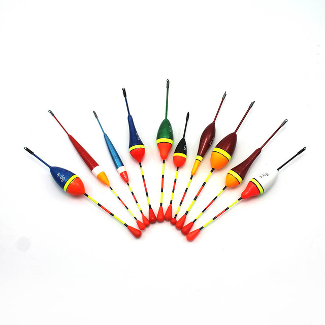 Details about  /10pcs//lot long tails fishing throw floats mix size floating bobbers set fishJFEH