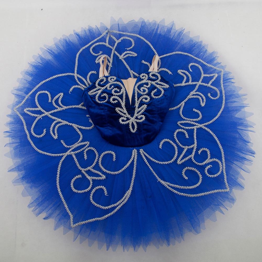 Customer size made royal blue velvet bodice professional ballet tutu girl & women tutu balleria dance costume Blue Bird tutu