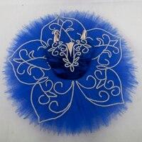 Customer Size Made Royal Blue Velvet Bodice Professional Ballet Tutu Girl Women Tutu Balleria Dance Costume