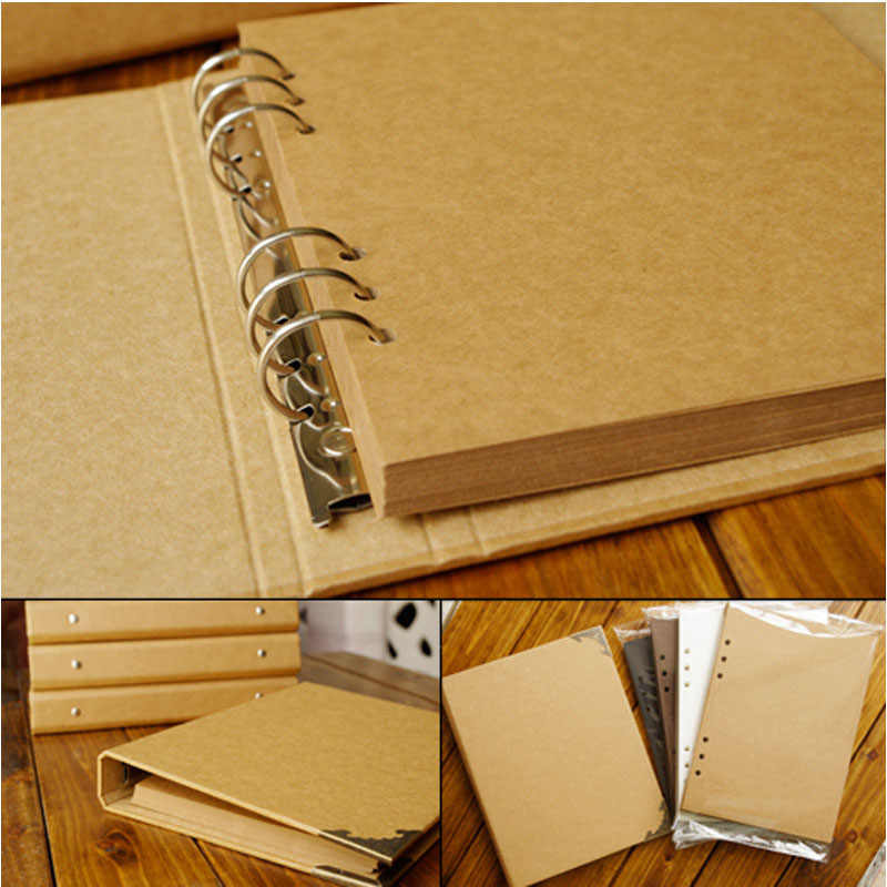 40 Pages Wedding/Baby/DIY/Loose-Leaf Photo Album Scrapbook Blank Photo Album Cover Kraft Album For Photos For Kids Case Binding