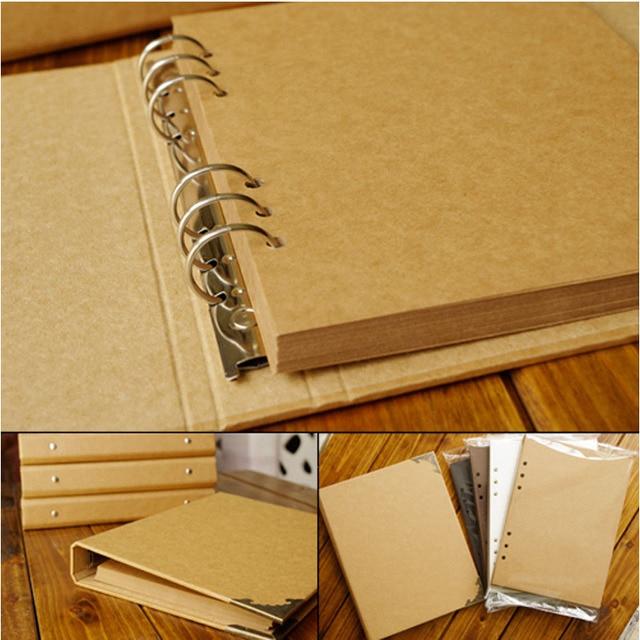 40 דפים חתונה/תינוק/DIY/Loose עלים אלבום תמונות Scrapbook ריק אלבום תמונות כיסוי קראפט אלבום עבור תמונות לילדים מקרה מחייב