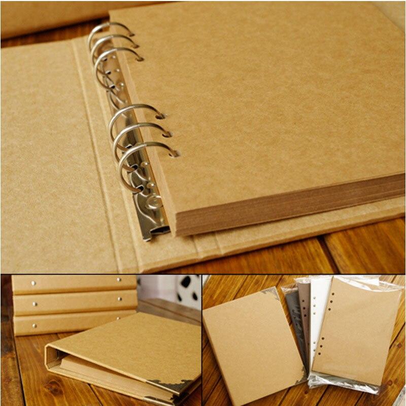 40 páginas Casamento/Bebê/DIY/Loose-Leaf Photo Album Scrapbook Em Branco Kraft Álbum de Foto Da Capa Do Álbum para Fotos Para Crianças Caso de Ligação