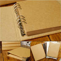 40 páginas casamento/bebê/diy/loose-leaf álbum de fotos scrapbook em branco álbum de fotos capa kraft álbum para fotos para crianças caso encadernação