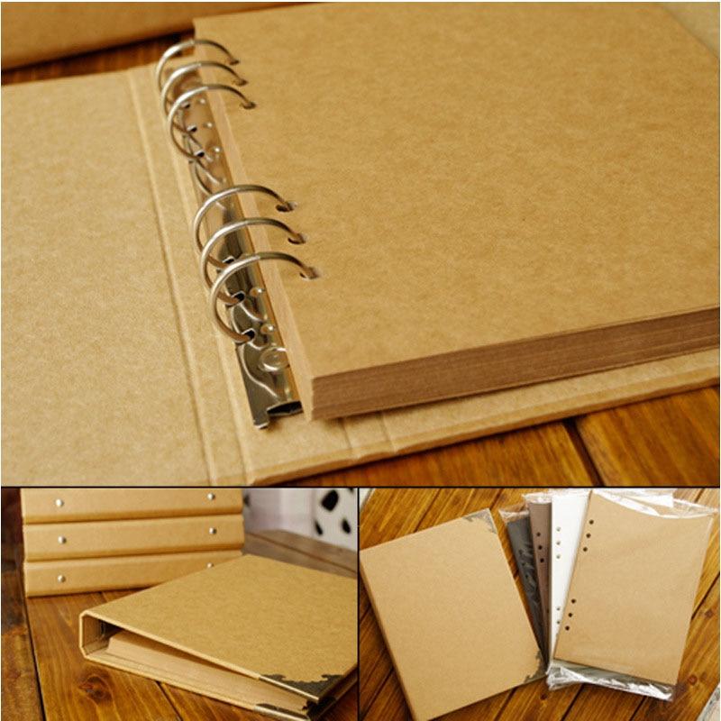 40 páginas de la boda/Bebé/DIY/Loose-Leaf foto álbum Scrapbook en blanco foto álbum cubierta Kraft álbum fotos para niños caso vinculante