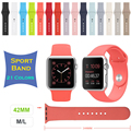 M / L 144mm Sport silicone strap  for Apple watch 2 bands high quality bracelet for apple watch 42mm