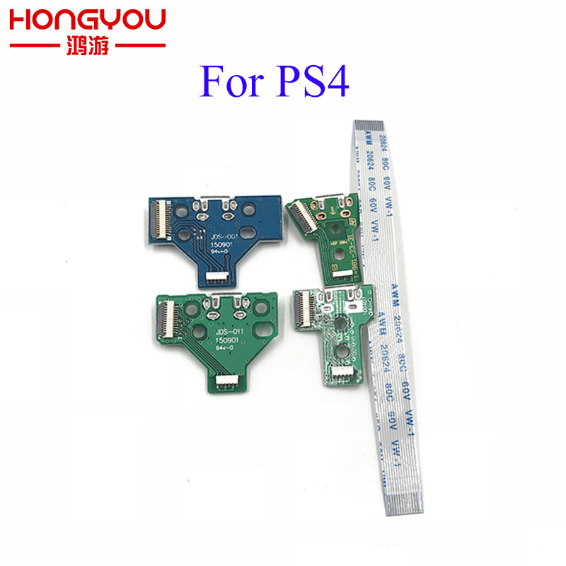 JDS-001 JDS-011 JDS-030 JDS-040 USB Charging Port Socket Board charger board with flex ribbon cable For PS4 Pro controller board цепь ручной работы из золота 70604700