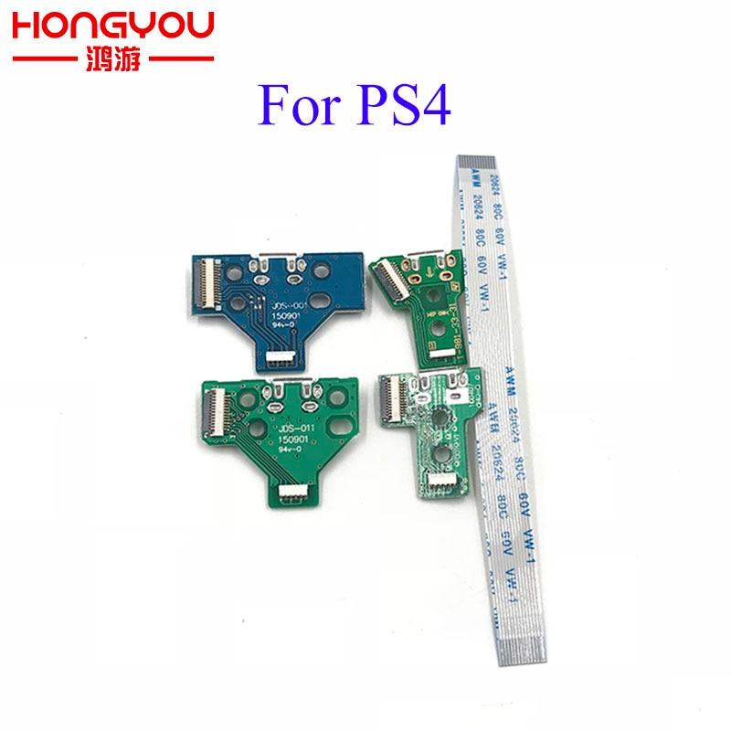 JDS-001 JDS-011 JDS-030 JDS-040 USB Charging Port Socket Board Charger Board With Flex Ribbon Cable For PS4 Pro Controller Board