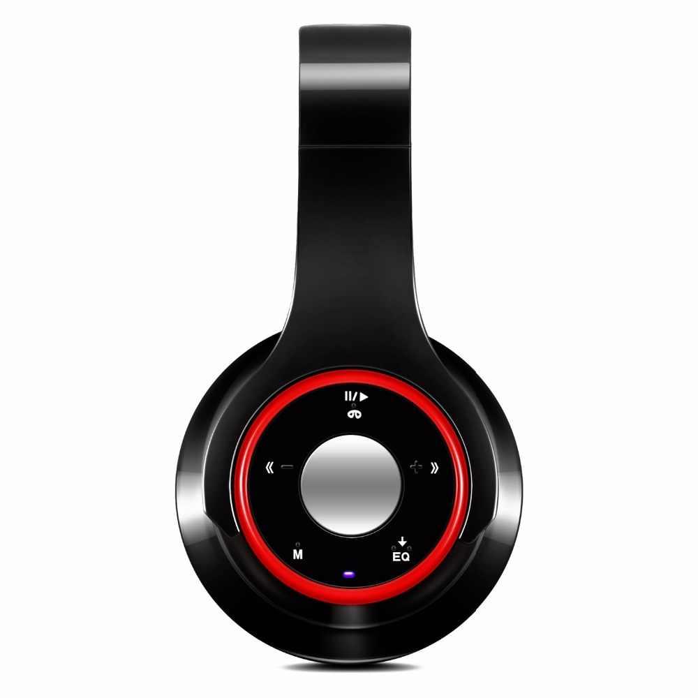 Стерео аудио Mp3 плеер Блютуз-наушник Беспроводной наушники Поддержка SD карты, противошумные наушники с микрофоном играть 10 часов