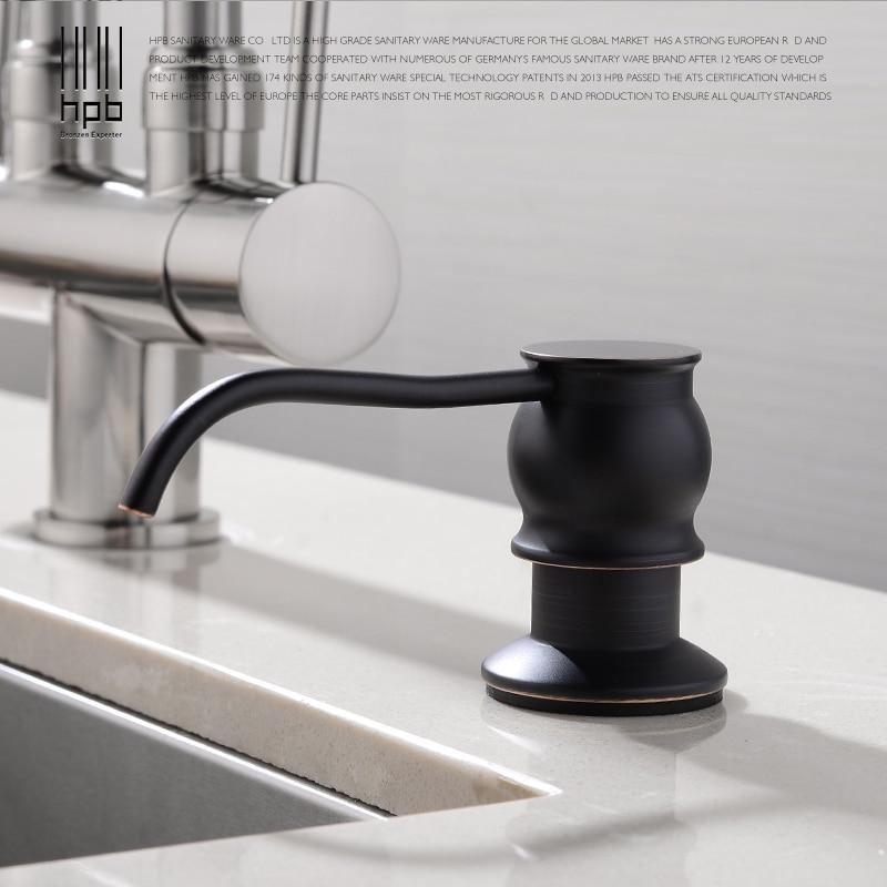 Hpb Oil Rubber Bronze Kitchen Liquid Soap Dispensers Deck Mounted Soap Dispenser For Kitchen Built In Dispensador De Jabonhp4502