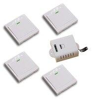 Hot Selling AC85V 110V 220V 250V Smart Home Panel Wireless Remote Power Switch Wall Transmitter Radio